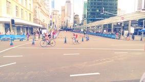 Triathlon em Nova Zelândia imagens de stock royalty free