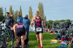 Triathlon event. Hever Castle. UK Sept 23rd 2017 Royalty Free Stock Photography