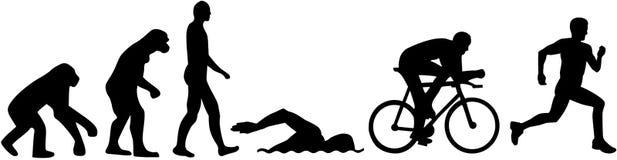 Triathlon evolution. Vector sports icon Stock Photo