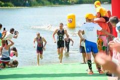 Triathlon filiżanka Ukraina i filiżanka Bila Tserkva Lipiec 24, 2016 Zdjęcia Royalty Free