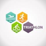 Triathlon fitness symbol icon Stock Photo