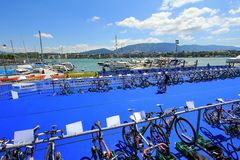 Triathlon Geneva, Switzerland Royalty Free Stock Images