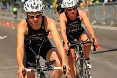 Triathlon Genewa, Szwajcaria Zdjęcia Royalty Free