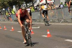 Triathlon Genf, die Schweiz stockfoto