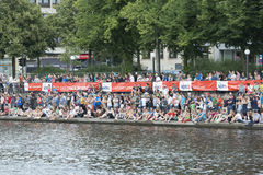 Triathlon Hambourg du monde d'UIT Photos stock
