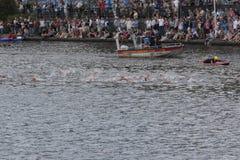 Triathlon Hambourg du monde d'UIT Photos libres de droits