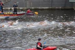 Triathlon Hambourg du monde d'UIT Images stock