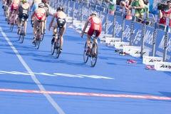 Triathlon Hambourg du monde d'UIT Photo libre de droits
