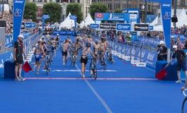 Triathlon Hambourg du monde d'UIT Photographie stock libre de droits