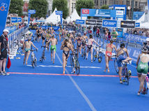 Triathlon Hambourg du monde d'UIT Image stock