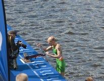 Triathlon Hamburgo del mundo del ITU Imágenes de archivo libres de regalías