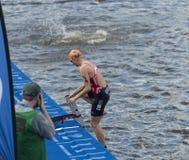Triathlon Hamburgo del mundo del ITU Imagen de archivo