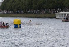 Triathlon Hamburgo del mundo del ITU Imagen de archivo libre de regalías