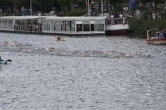 Triathlon Hamburgo del mundo del ITU Foto de archivo