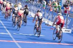 Triathlon Hamburgo del mundo del ITU Fotografía de archivo