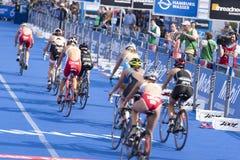 Triathlon Hamburgo del mundo del ITU Imagenes de archivo