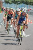 Triathlon internacional 2012, Genebra, Switzerland imagem de stock