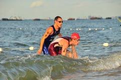 Triathlon internazionale 2008 - 1 di OSIM Fotografia Stock