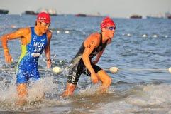 Triathlon internazionale 2008 - 4 di OSIM Fotografia Stock