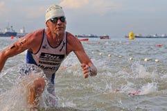 Triathlon ironman 2011 di Aviva Singapore Fotografia Stock