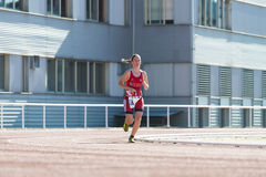 Triathlon kobieta Zdjęcia Royalty Free