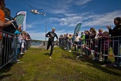 Triathlon levantado Fotografia de Stock