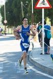 Triathlon man Stock Images