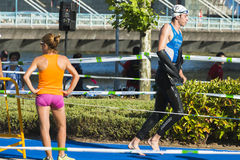 Triathlon man Royalty Free Stock Image