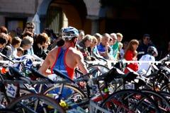 triathlon olympique de cusio de cuvette Image libre de droits