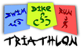 Triathlon pictogram Royalty Free Stock Photos