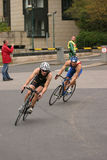 Triathlon racing Stock Images
