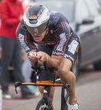 Triathlon-Radfahrer Stockfotografie