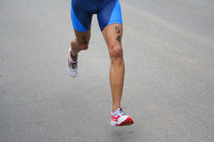 Triathlon Running Royalty Free Stock Photos