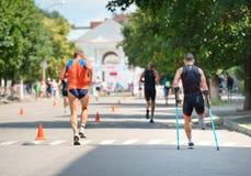 Triathlon-Schale von Ukraine und Schale von Bila Tserkva 24. Juli 2016 lizenzfreie stockfotografie