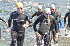 Triathlon soulevé Photographie stock libre de droits