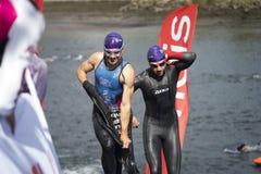 Triathlon in Spain stock photography