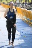 Triathlon in Spanien Lizenzfreies Stockfoto