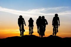 Triathlon sport at mountain Royalty Free Stock Photos