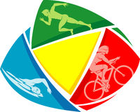 Triathlon Sports Symbol Royalty Free Stock Images