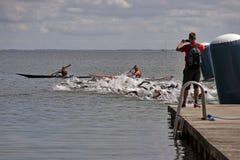 Triathlon Start Stock Image