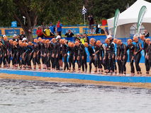 Triathlon Start Stock Images