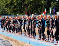 Triathlon Start Royalty Free Stock Image