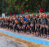 Triathlon Start Royalty Free Stock Photography