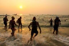 Triathlon swim Royalty Free Stock Photo