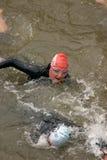 Triathlon swimming competition Stock Photo