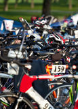 Triathlon Transition Area Stock Photography
