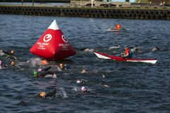 Triathlon turniejowy wyzwanie Fredericia obraz stock