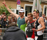 Triathlon winners Royalty Free Stock Photos