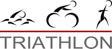 Triathlonpictogram Arkivfoto