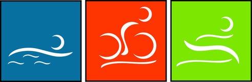 Triathlonpiktogramm stock abbildung
